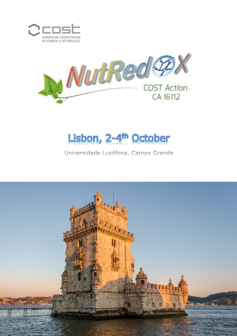 COST Action NutRedOx Lisbon abstract book cover