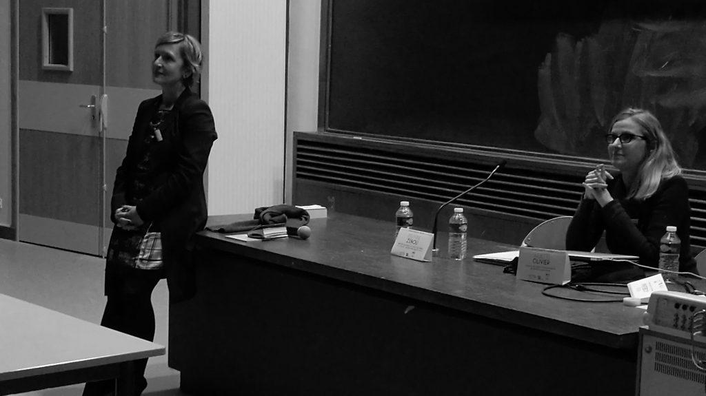 Ciné-débat : Delphine ZENOU (à gauche) et Juliette Olivier (à droite)