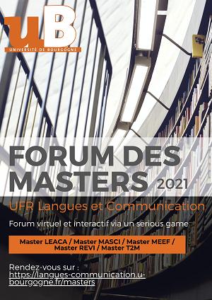 Forum des Master 2021 - Affiche